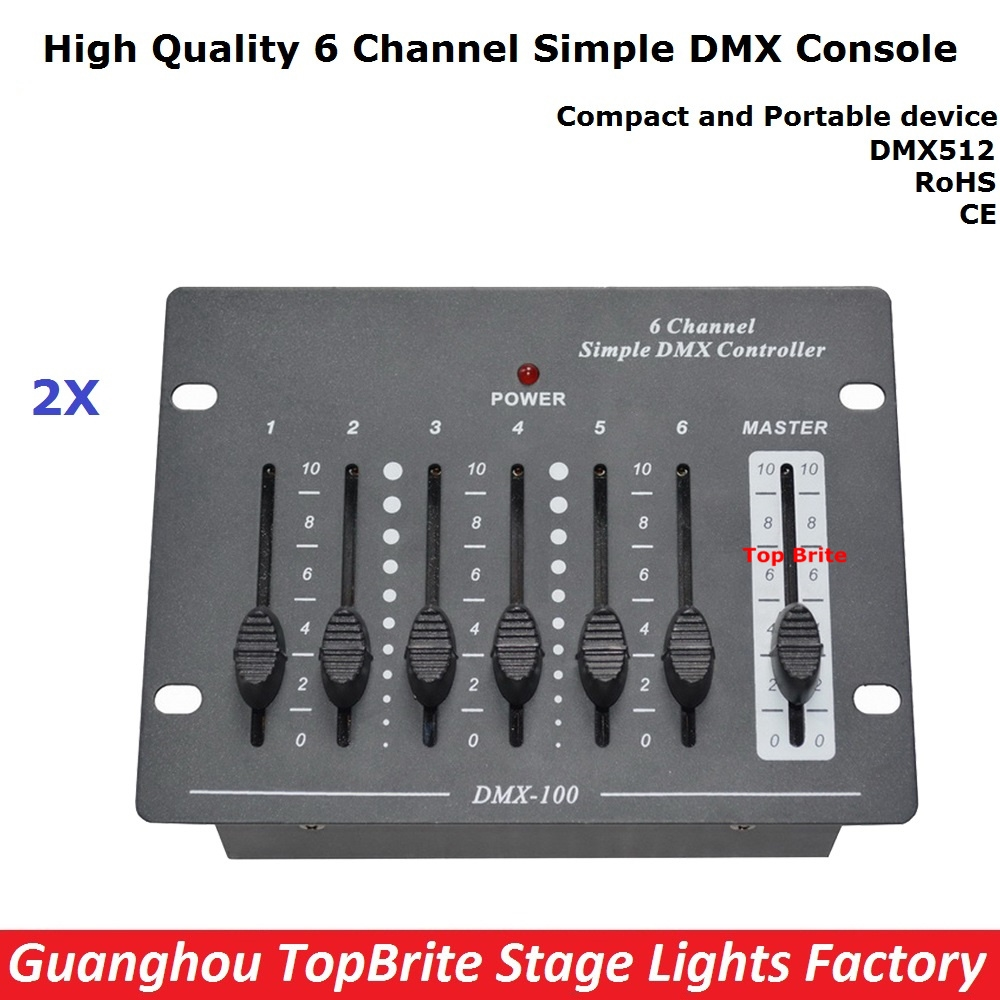 108.24$  Buy now - http://alisdx.worldwells.pw/go.php?t=32786090810 -  2XLot Big Discount 6 Channel Simple DMX Controller For Stage Lighting 512 DMX Console Dj Controller Equipments Free Shipping 108.24$