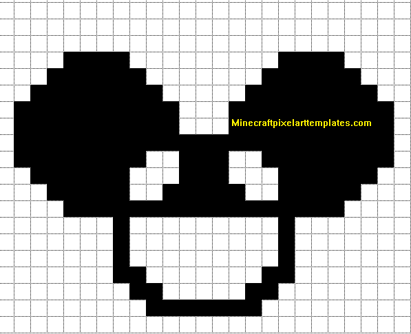 Minecraft Pixel Art Templates Deadmau5 – Minecraft Pixel Art Template