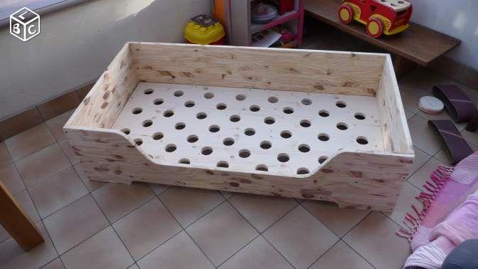 lit b b sans barreau inspiration montessori donne cadre. Black Bedroom Furniture Sets. Home Design Ideas