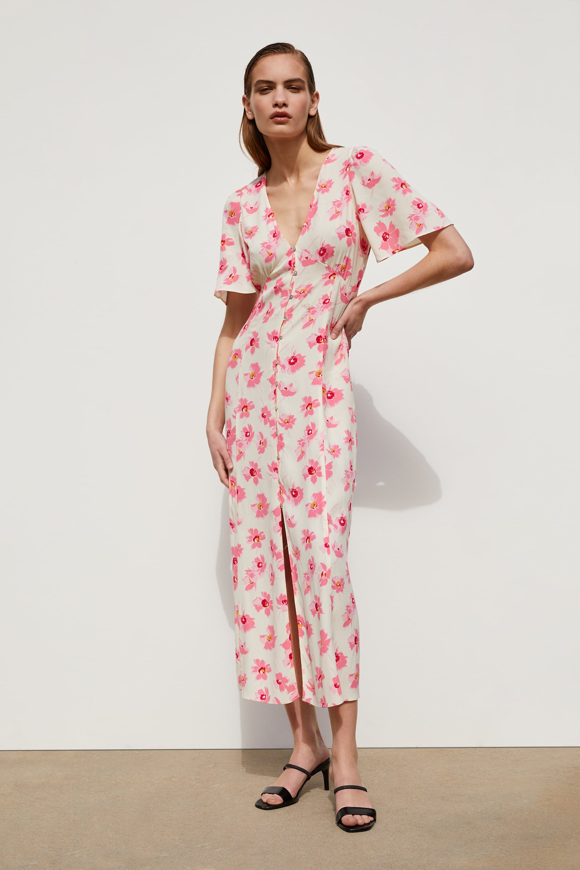 vestido estampado flor | kleider damen, bedruckte kleider