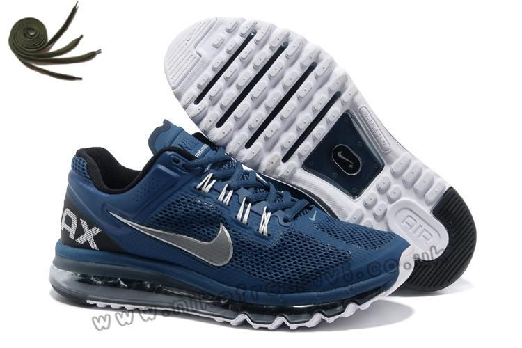 sports shoes 8f77e df7e0 Anti Skid Squadron Blue Reflective Silver Black Nike Air Max 2013 Mens  Running Shoes