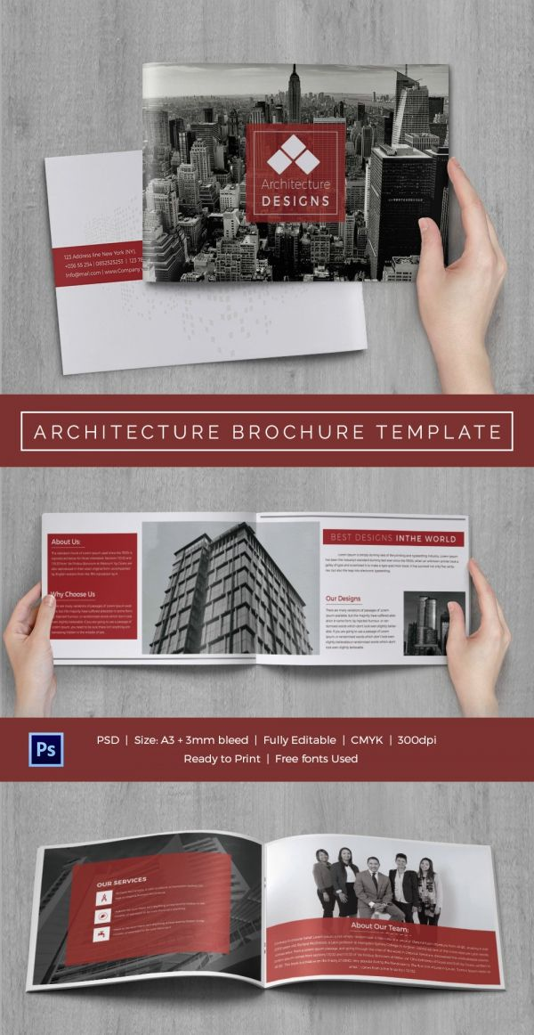 Architecture Brochure Template 36 Free Psd Pdf Eps Indesign