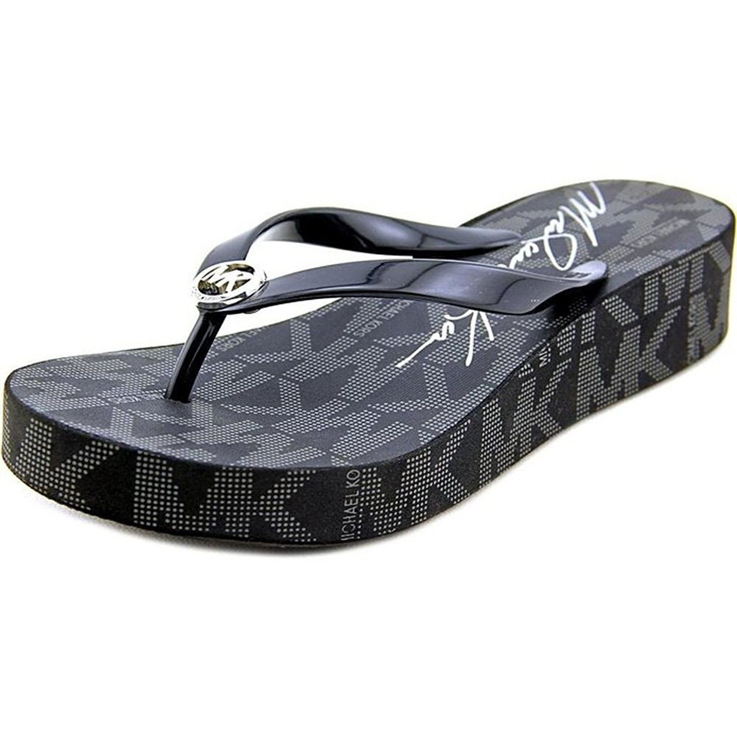 f5095e48b0da Michael Michael Kors Bedford Flip Flop Women US 11M Black   Click image for  more details