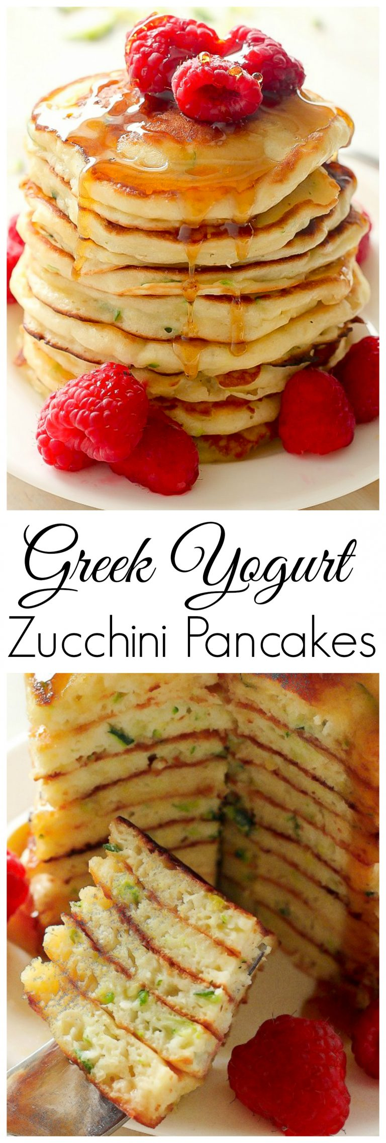 Photo of Healthy Greek Yogurt Zucchini Pancakes – Baker by Nature