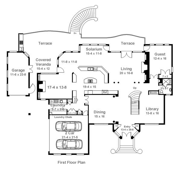 Barons Court 6017 5 Bedrooms And 5 5 Baths The House Designers Floor Plans How To Plan European House Plans