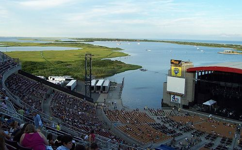 Concert At The Jones Beach Theater Long Island Sound Ny Fire