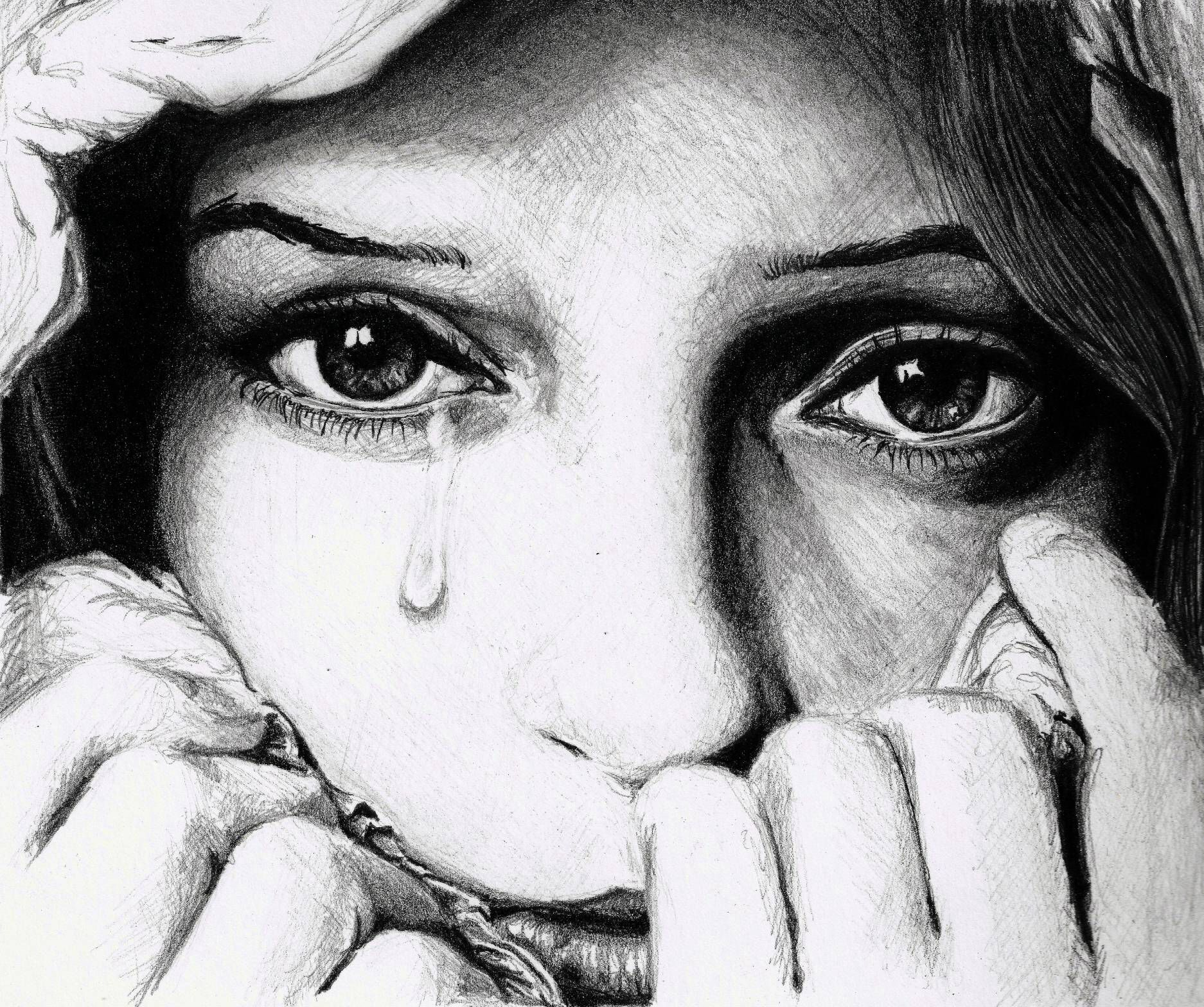 Awesome Sad Sketches Of Pencil