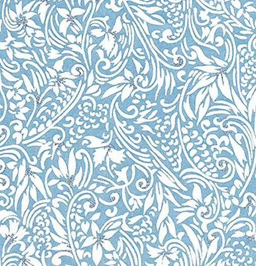 JaponskaZahrada / Handmade art papier - Vínna réva bledomodrá