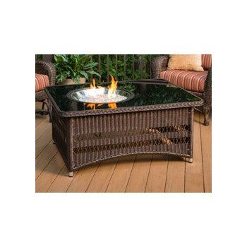 Outdoor Greatroom Naples Chat Height Gas Fire Pit Coffee Table Fire Pit Coffee Table Gas Firepit Outdoor