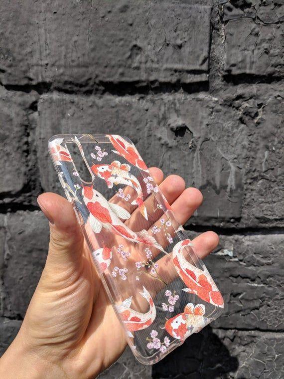 Koi fish case japanese fish fish case Samsung S10 case S9 | Etsy