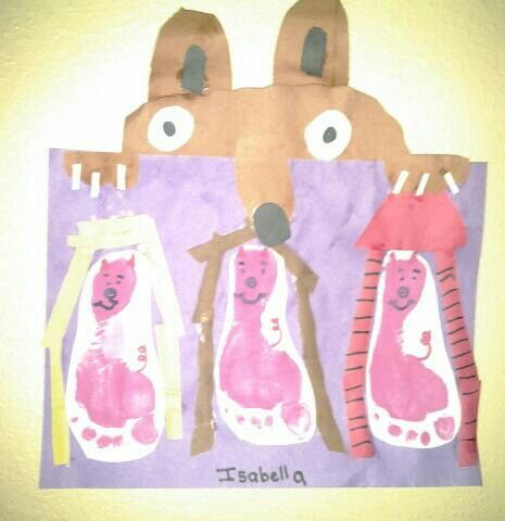 Three little pigs and the big bad wolf paper craft for Fairy crafts for toddlers