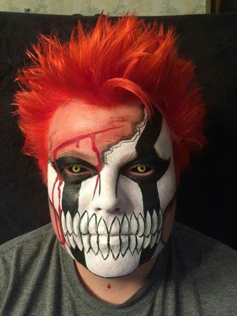 Bleach Ichigo Hollow Mask Face Paint Cosplay Mask Face Paint Ichigo Cosplay Mask Makeup
