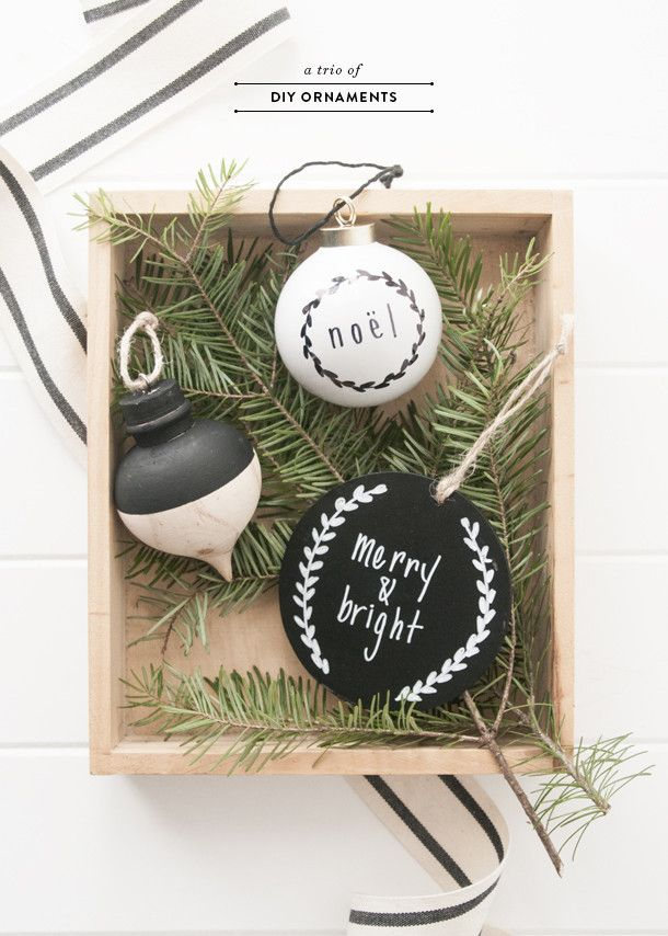 Each year as my Christmas theme changes, I always make a few different types of DIY ornaments to layer onto the metallic and neutral base. This really reinforces the christmas theme without a total ov