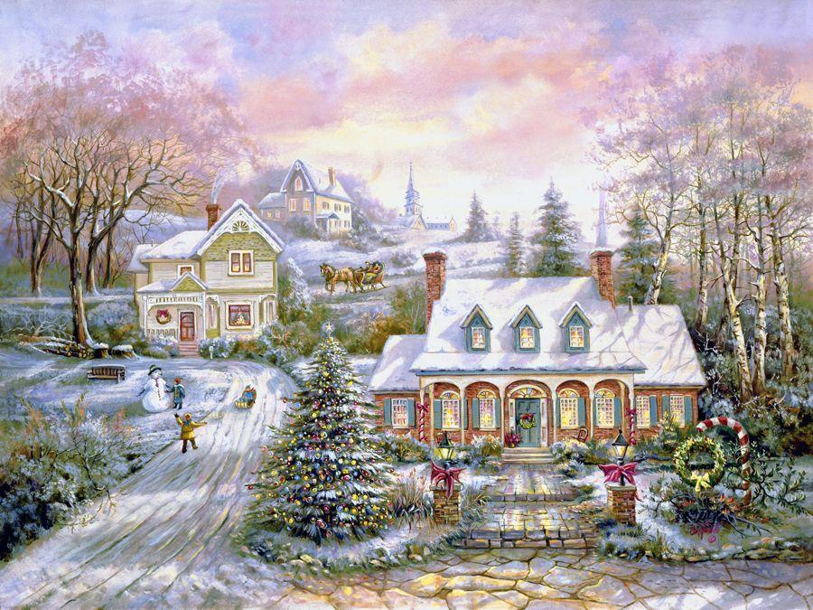 Картинки для декупажа новогодняя сказка