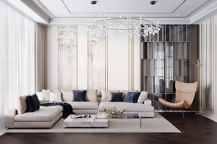 Classical Modern Interiors Contemporary Living Room Living Room
