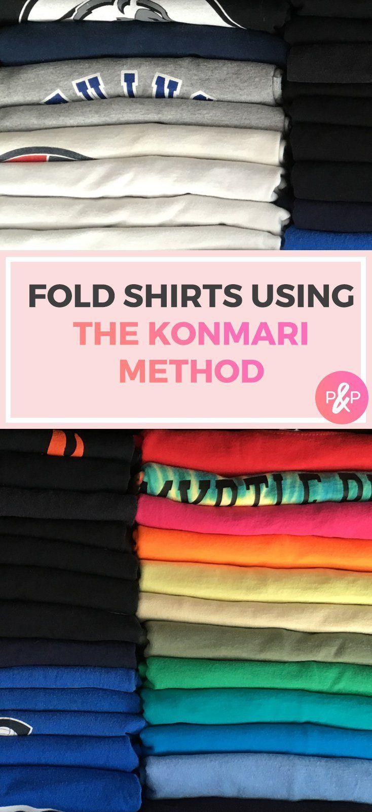KonMari Folding Hack - The Perfect Fold Every Time! #foldingclothes