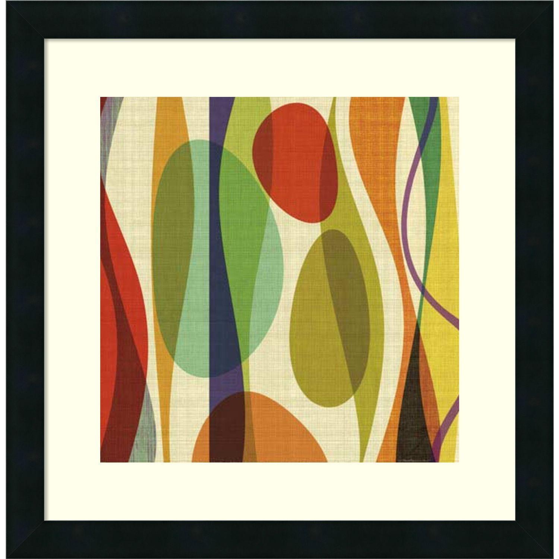 Barry Osbourn \'Positive Energy Sq 1\' Framed Art Print 18 x 18-inch ...