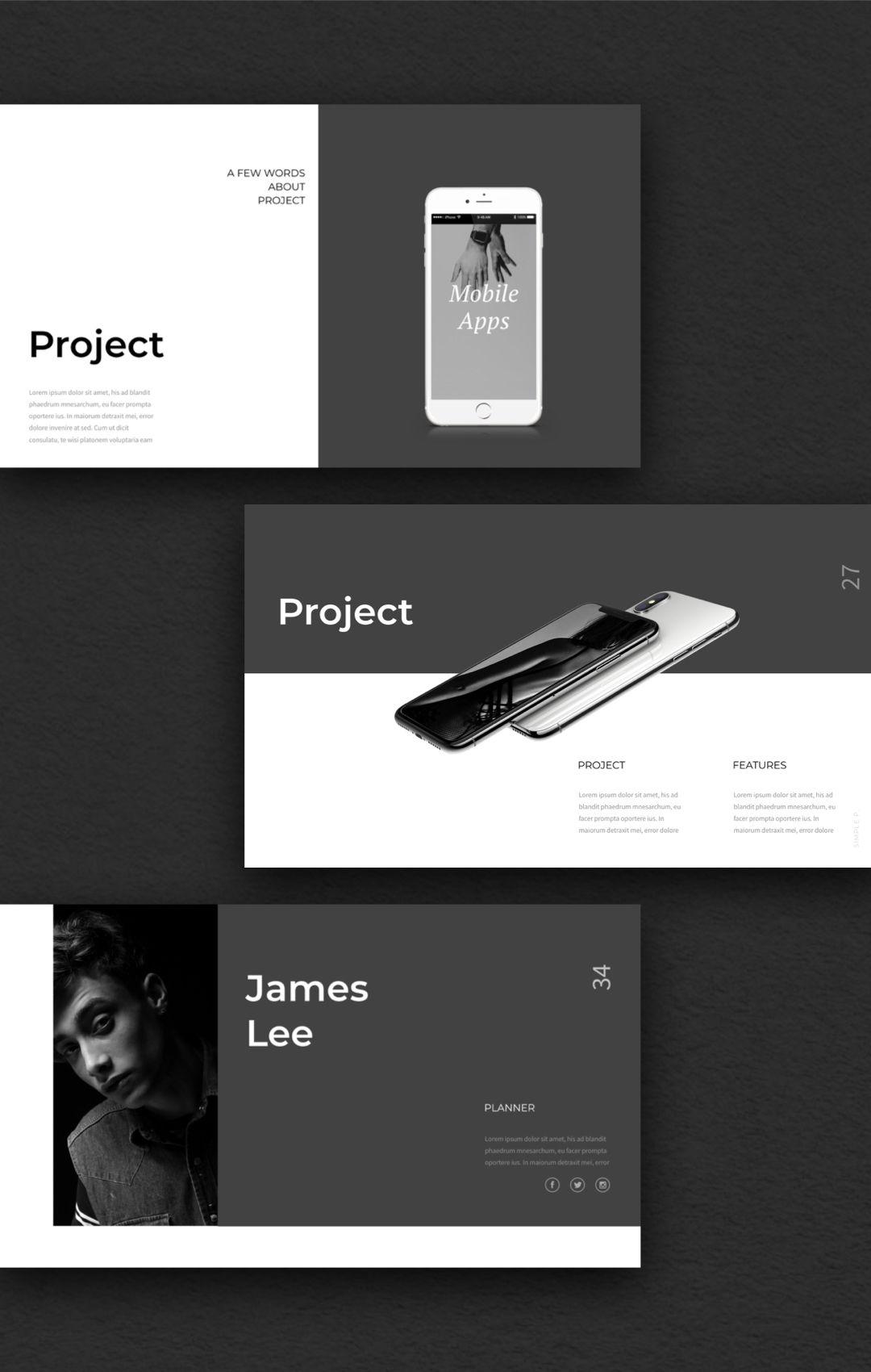 Simple P Powerpoint Template Business Presentation Templates Logo Design Tutorial Presentation Design Layout