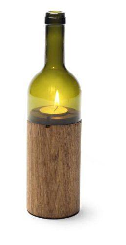 """side by side """"WeinLicht"""", Windlicht, Teelichthalter, Farbe: grün, aus Eiche, Höhe 28 cm, Durchmesser 7,5 cm"""