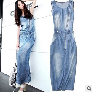 Plus Size Long Denim Dresses