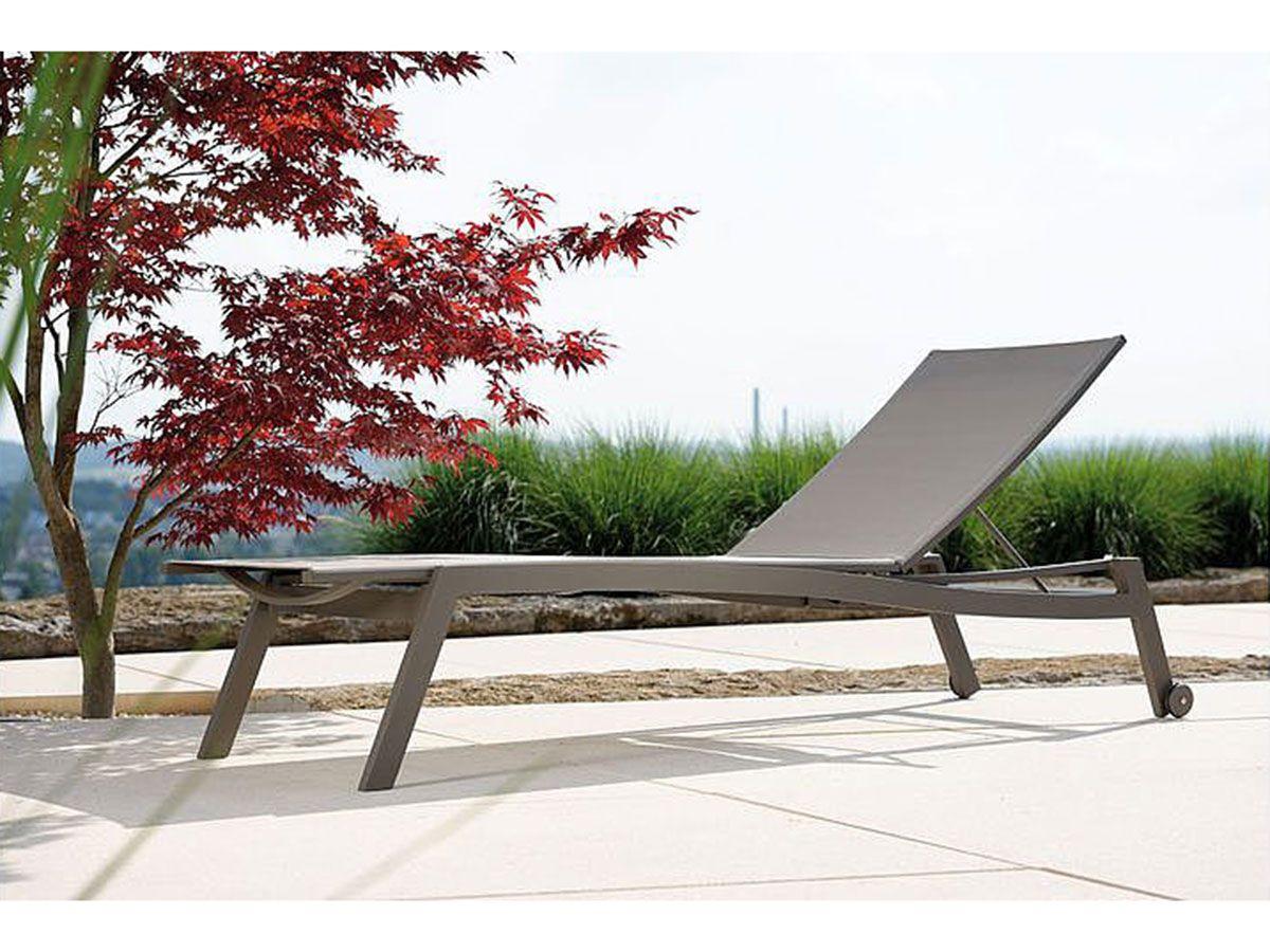 Stern Sonnenliege Allround Aluminium Taupe Textil Kieselgrau Kaufen Im Borono Online Shop Chaise Longue Chaise