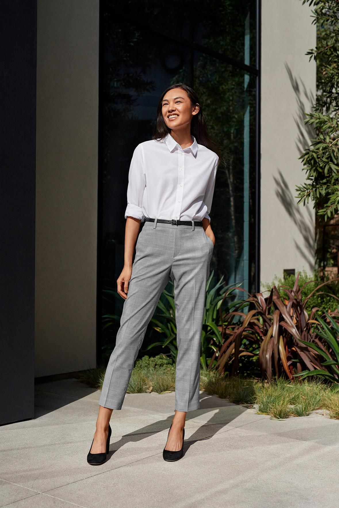 5bf8735266d05 Achieve a clean, contemporary look with our Supima Cotton Stretch  Broadcloth Shirt.