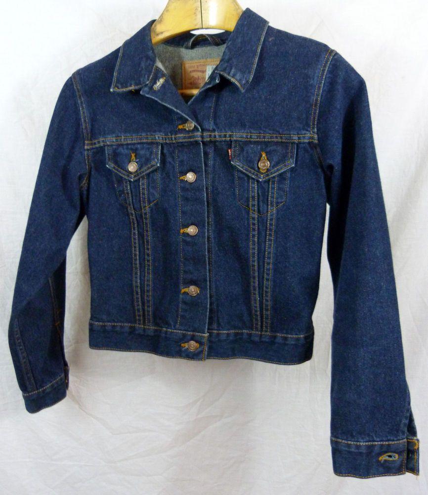 Unisex Size M Medium Levis Denim Trucker Dark Blue Jean Jacket 77597 2828 Levi Denim Coat Jacket Tall Jeans Jeans Style [ 1000 x 866 Pixel ]