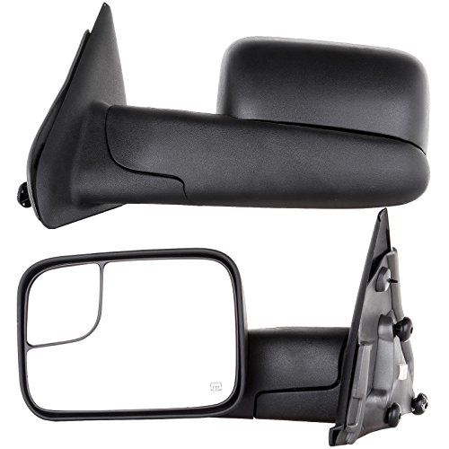 Towing Mirrors For 02 08 Dodge Ram 1500 03 09 Dodge Ram 2500 3500 Pickup Truck Power Heated Tow Folding Side V Towing Mirrors Pickup Truck Towing Towing Mirror