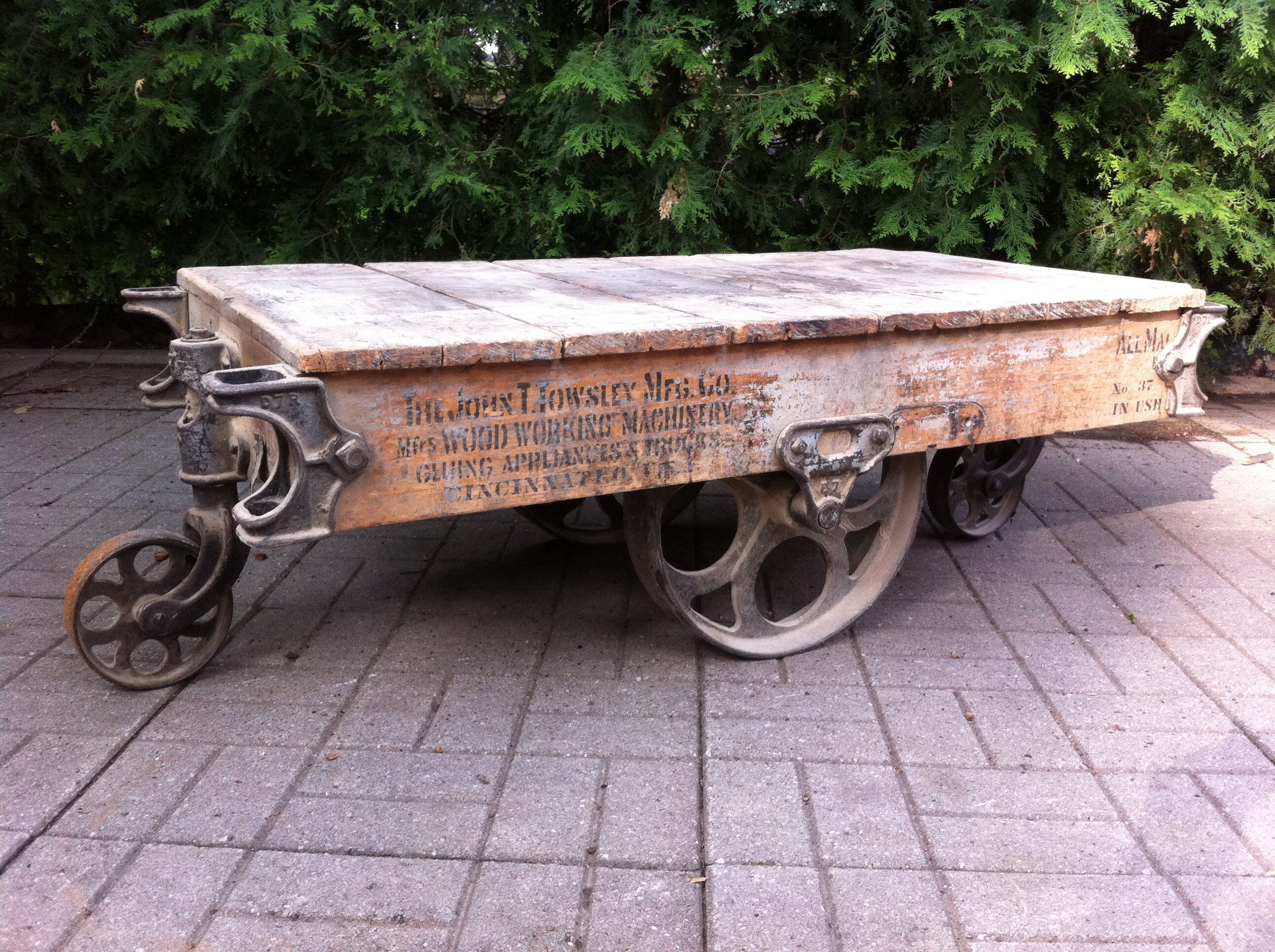 The John T Towsley Mfg Co Cincinnati Ohio USA factory cart