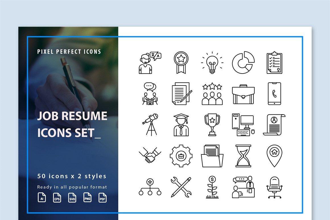 Job resume icons inventicons resume icons job resume