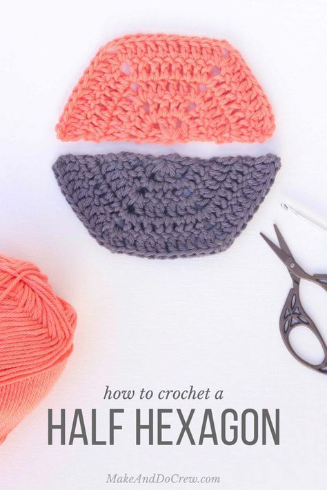 Tutorial: How to Crochet a Half Hexagon | Afghans, Free pattern and ...