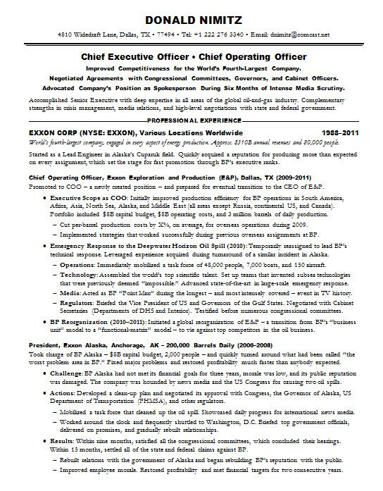 Oil And Gas Manager Resume - The best estimate professional - sample resume for manager