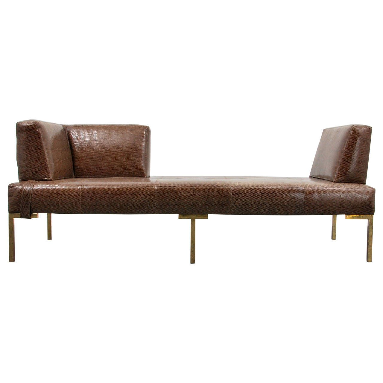 Luigi Gentile Leather Daybeds or Chaise Lounges Two Available  sc 1 st  Pinterest : chaise daybed lounge - Sectionals, Sofas & Couches