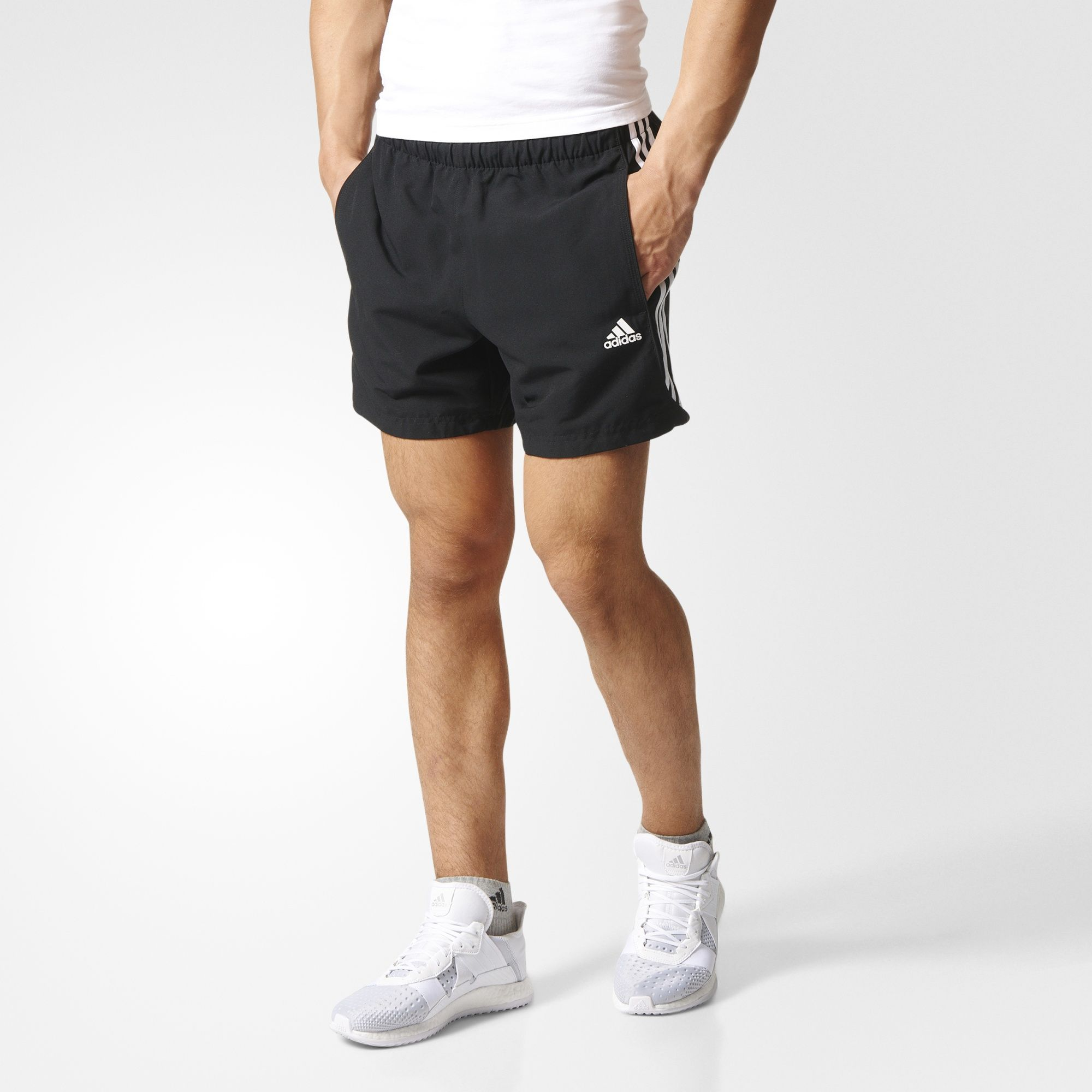 New Adidas 3 Stripes Essential Shorts For Mens On Sale