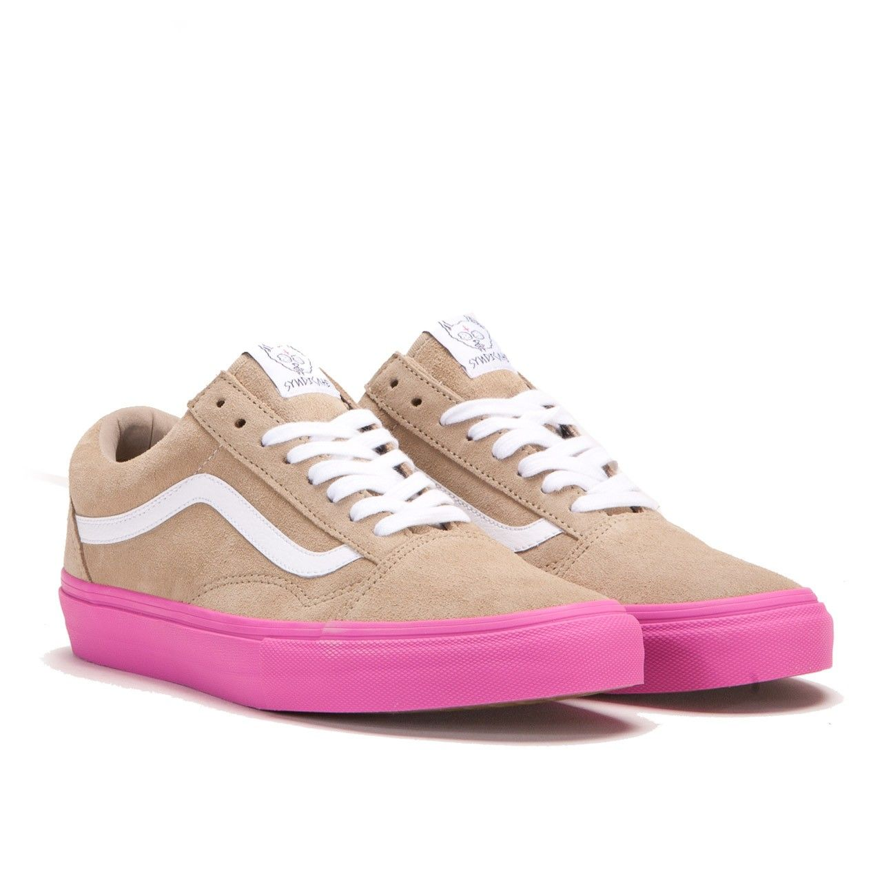 vans old skool beige pink