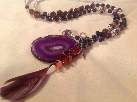 Lanyard Necklace Handmade Hand Beaded Jewelry by BOONEDOCK27, $35.00