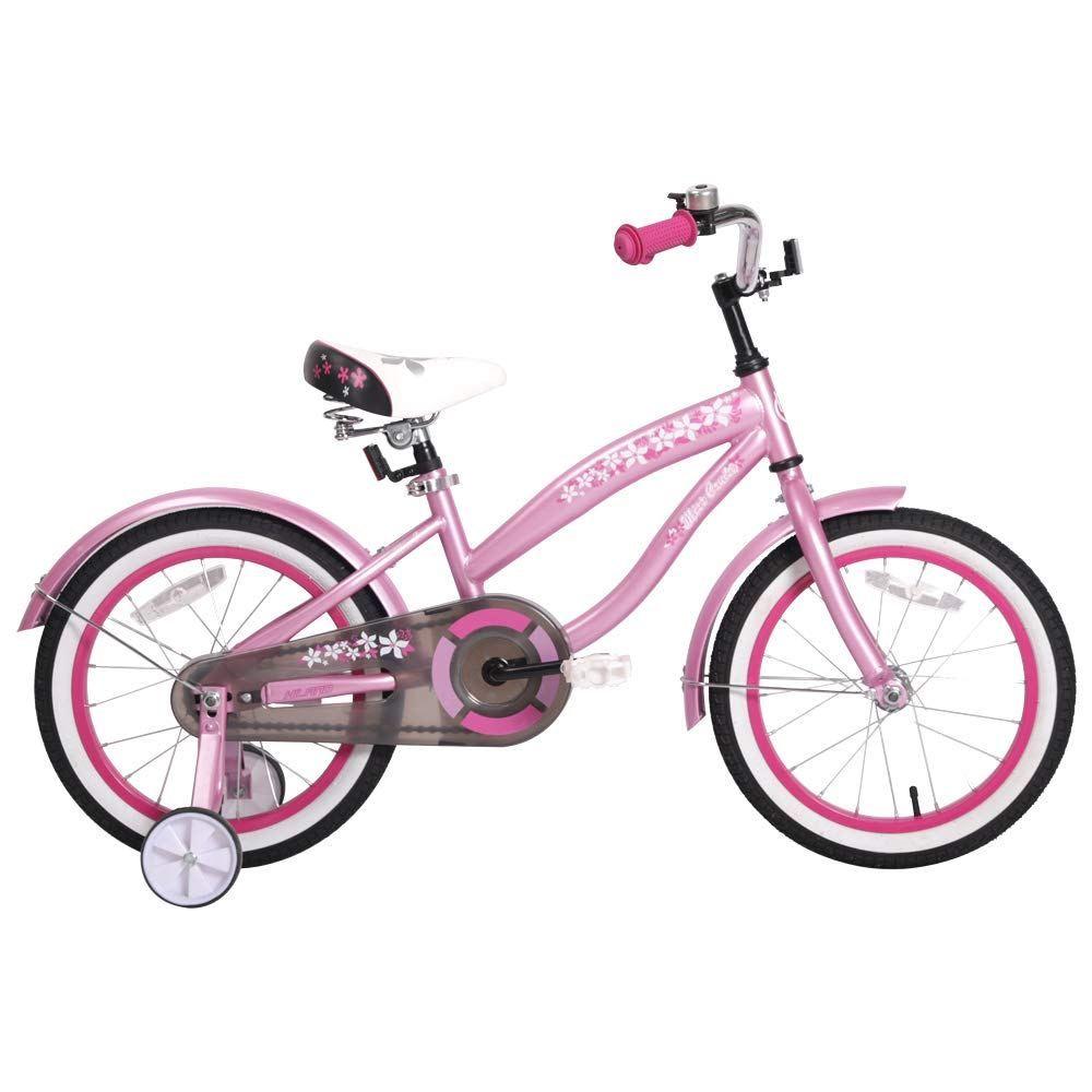 Hiland 14 16 Inch Kids Bike Bicycle With Training Wheels Girl S Beach Crusier Bike Multiple Colors Lovely Novelty Kids Bicycle Kids Bike Bicycle
