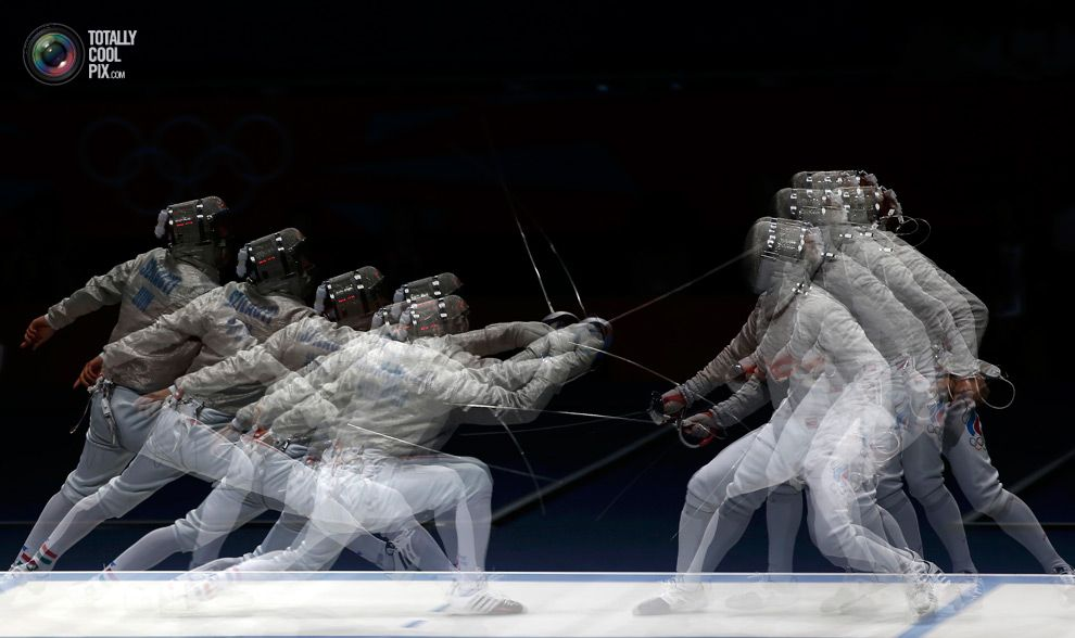 Hungary's Szilagyi competes against Russia's Kovalev during their men's sabre individual semifinal fencing competition at the ExCel venue at the London 2012 Olympic Games. DAMIR SAGOLJ/REUTERS