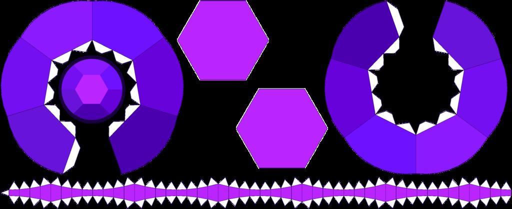 sugilite amethyst papercraft template by portadorx on deviantart