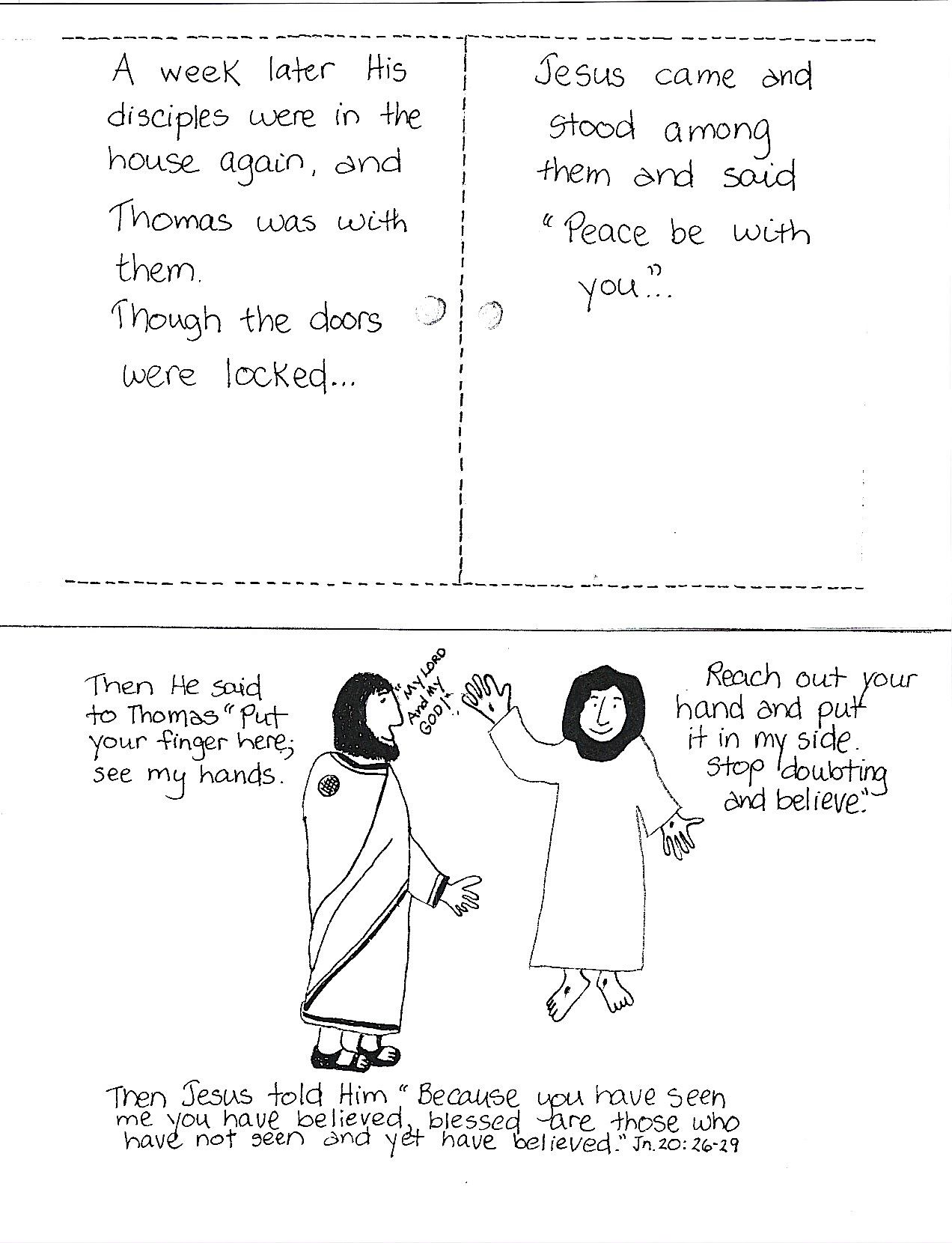 Free Worksheet Bible Story Worksheets doubting thomas sunday school bible story crafts and children worksheet 1