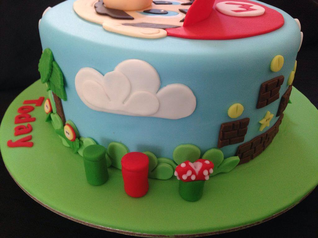 Mario Rice Krispie Fondant Birthday Cake Fondant Cake Decorating