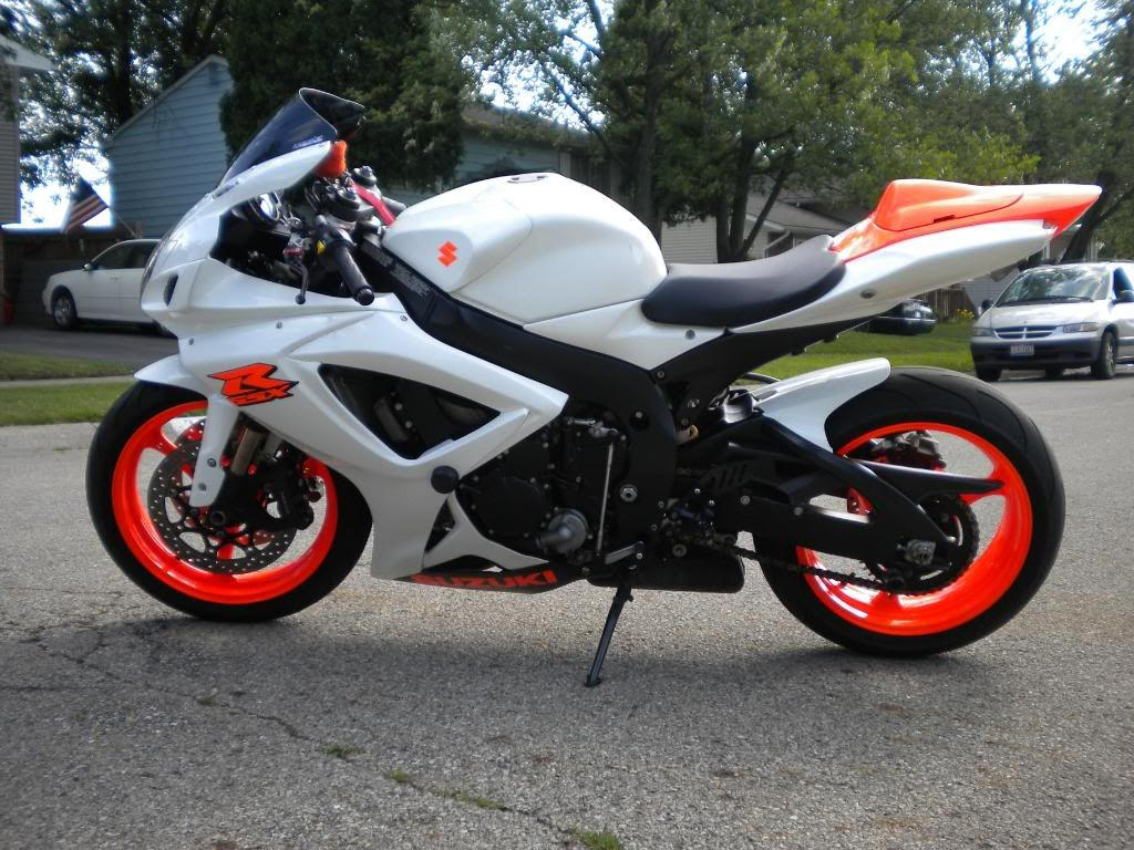 Motorcycle White Motorcycle Cars: White W/ Orange Wheels TL1000R