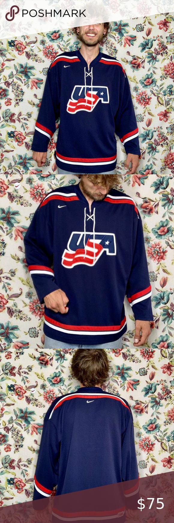 90s Nike Usa Hockey Jersey Olympics In 2020 Usa Hockey Jersey Usa Hockey Hockey Jersey