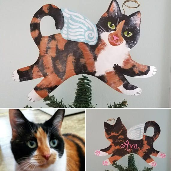 Cat Angel Christmas Tree Topper: Custom Cat Angel Tree Topper