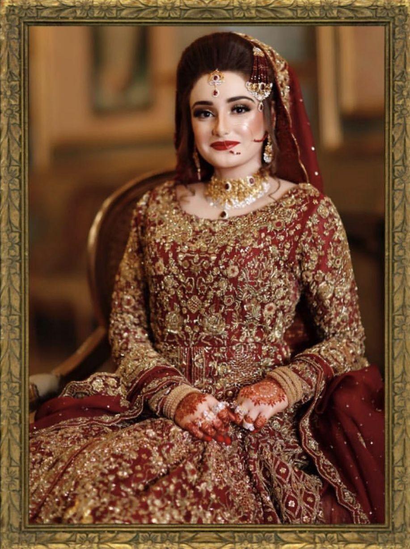 Banarasi colour pakistani bridal dresses latest bridal