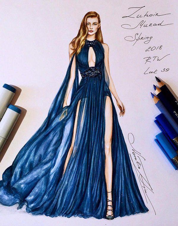 Photo of Fashion Illustrations by Natalia Zorin Liu | Art and Design