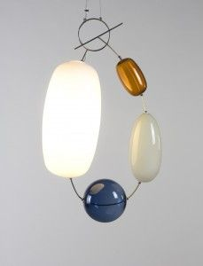 """""""Hely"""", a glass pendant light by the young Finnish artist, Katriina Nuutinen."""