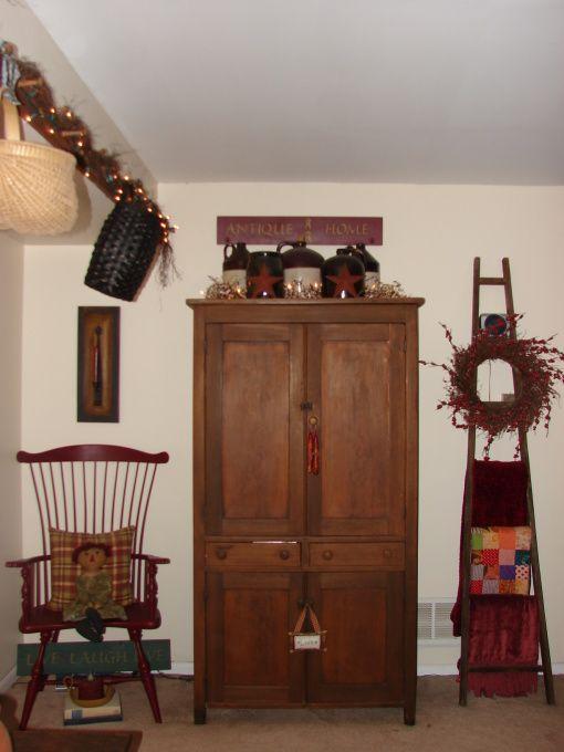 Primitive Living Room Decor: Primitive Living Room Decorating Photos