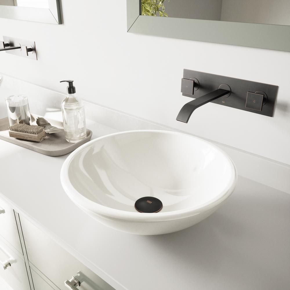 Vigo Elizabeth White Phoenix Stone Vessel Bathroom Sink In White
