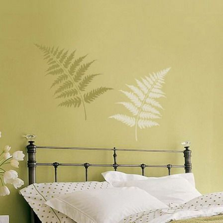 Simple-Green-Tree-Wall-Murals-In-Modern-Small-Bedroom-Design-Ideas